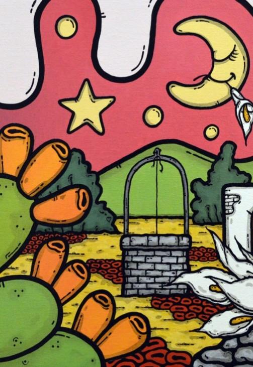opera, contornismo metafisico, francesco ferrulli, pittore pugliese, artista italiano, arte contemporanea, dipinto, olio su tela, paesaggi pugliesi, puglia, quadro colorato, oil on canvas, art, painter, paesaggio pugliese, campagna pugliese, trulli, ulivi, fichi d'india, aura d'incanto, calla, farfalla,