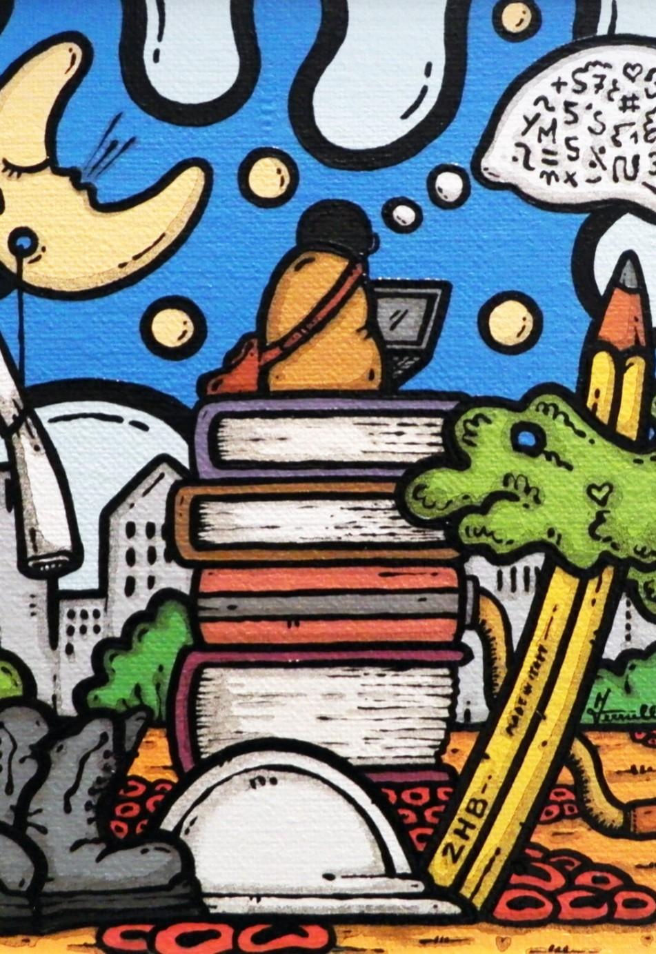 opera, contornismo metafisico, francesco ferrulli, pittore pugliese, artista italiano, arte contemporanea, dipinto, olio su tela, paesaggi pugliesi, puglia, quadro colorato, equilibri d'ingegno, oil on canvas, art, painter,