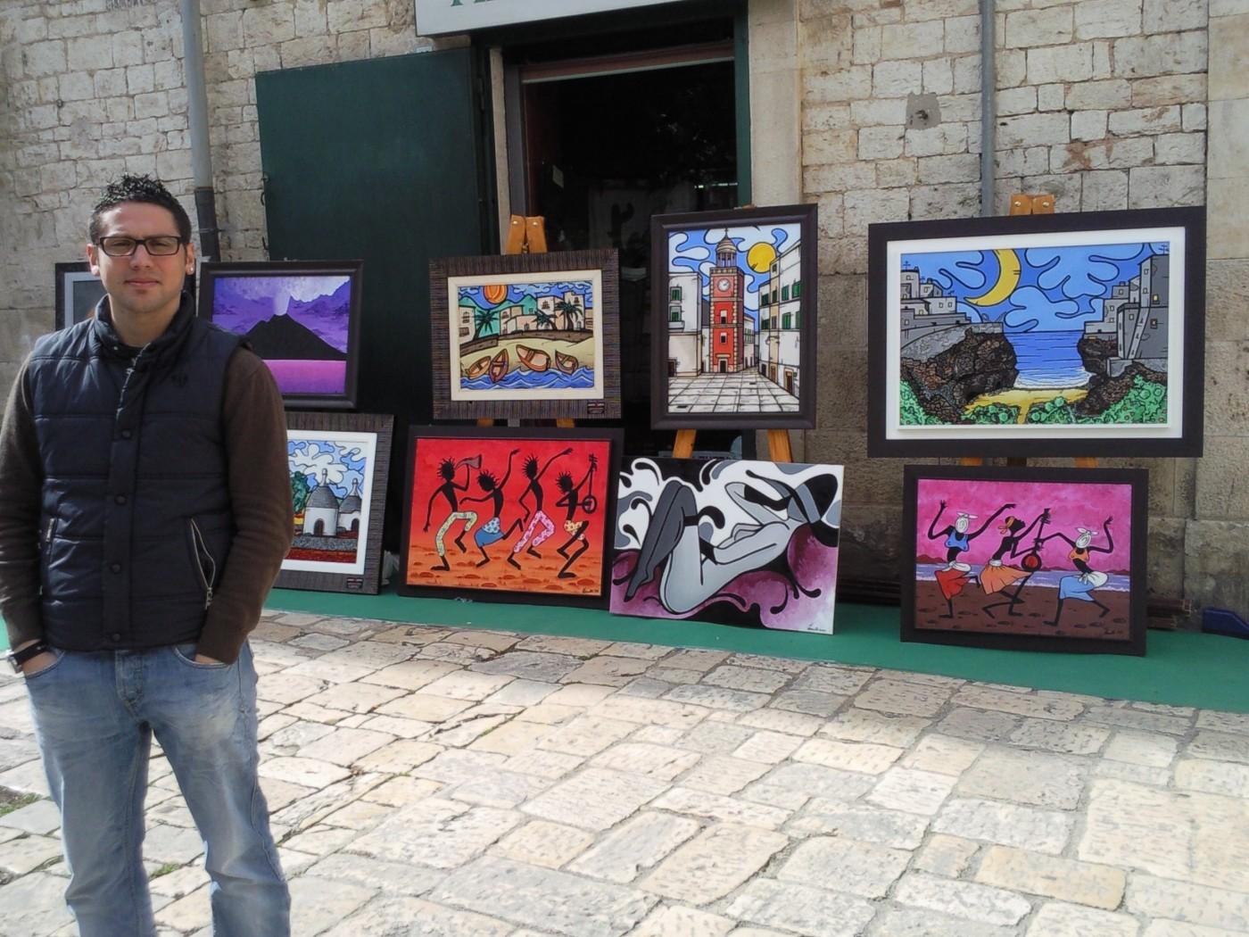 opera d'arte, contornismo metafisico, francesco ferrulli, pittore pugliese, artista italiano, arte contemporanea, dipinto, olio su tela, acrilico su tela, paesaggi pugliesi, quadri colorati, oil on canvas, art, painter, grafico, disegnatore, mostra,