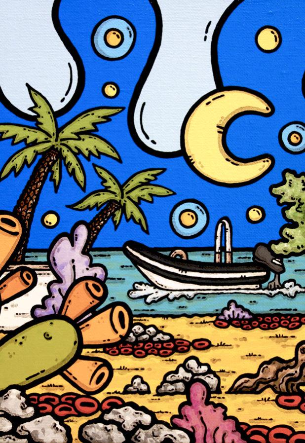 opera d'arte, contornismo metafisico, ferrulli, pittore, artista, pugliese, italiano, contemporaneo, famoso, arte contemporanea, dipinto, acrilico su tela, paesaggi pugliesi, campagna, mare, puglia, quadro colorato, acrylic on canvas, art, painter, quadro, ulivo, nuvole, faro, torre canne, italian artist, luna, fichi d'india, amore