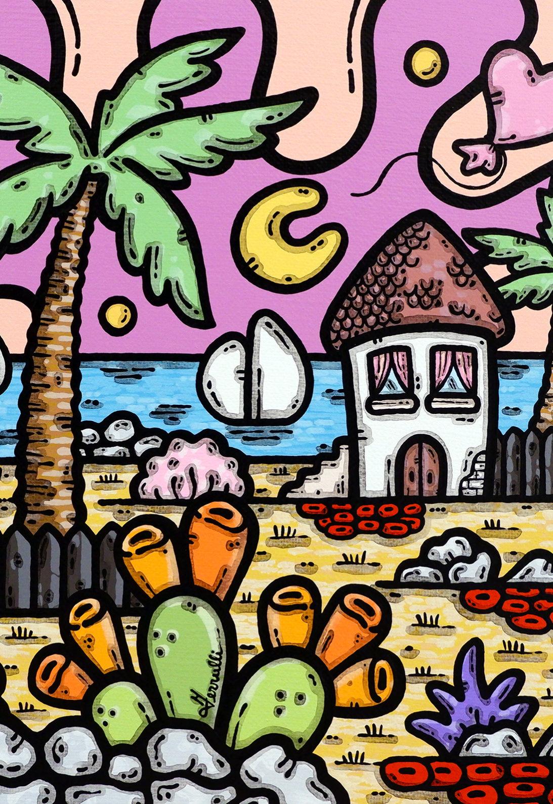 acrilico su tela, dipinto, opera d'arte, contornismo metafisico, art, francesco ferrulli, pittore, italiano, artista, italian artist, arte contemporanea, quadro, colori, cuore, i colori della mia vita.